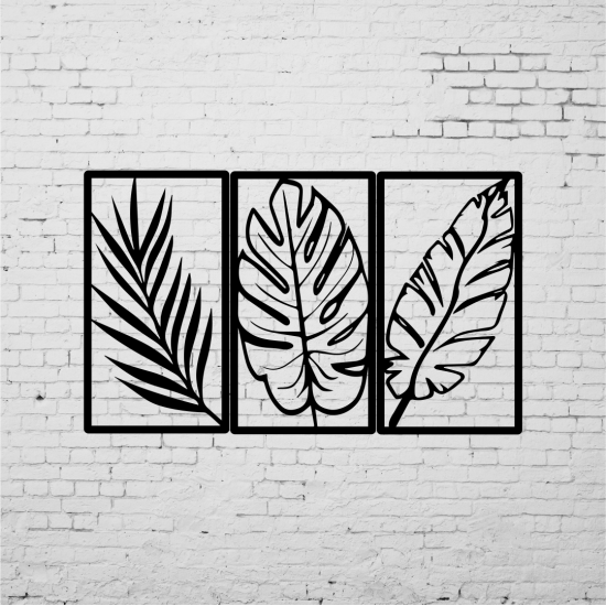 Duvar Dekoru 3´lü Yaprak