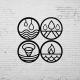 Duvar Dekoru 4 Element