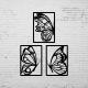 Duvar Dekoru 3´lü Kelebek