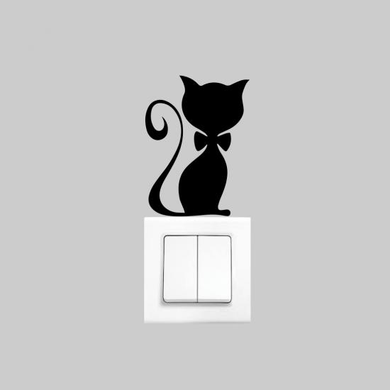 Priz Dekoru Kedi