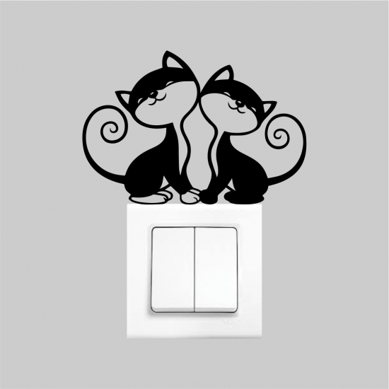 Priz Dekoru 2´li Kedi