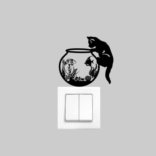 Priz Dekoru Kedi Fanus