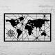 Duvar Dekoru Dunya Haritası