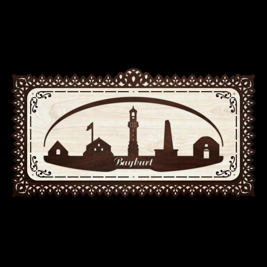 Dekoratif Ahsap Tablo - Bayburt Sehir (Büyük Boy)