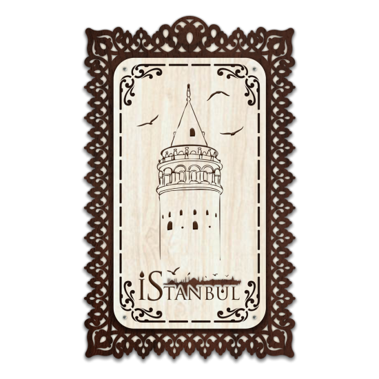 Dekoratif Ahsap Tablo - Galata Kulesi (Normal Boy)