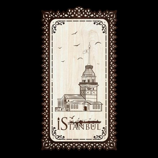 Dekoratif Ahsap Tablo - Kız Kulesi (Büyük Boy)