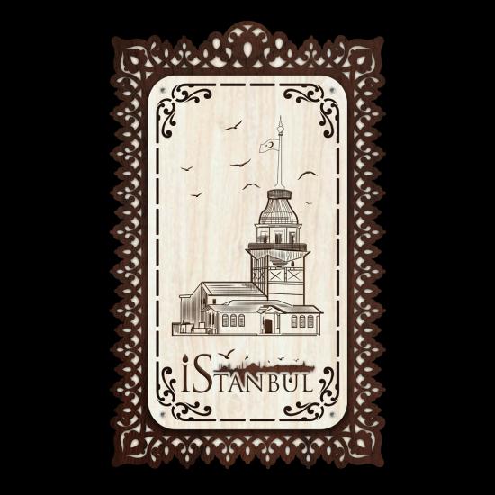 Dekoratif Ahsap Tablo - Kız Kulesi (Normal Boy)