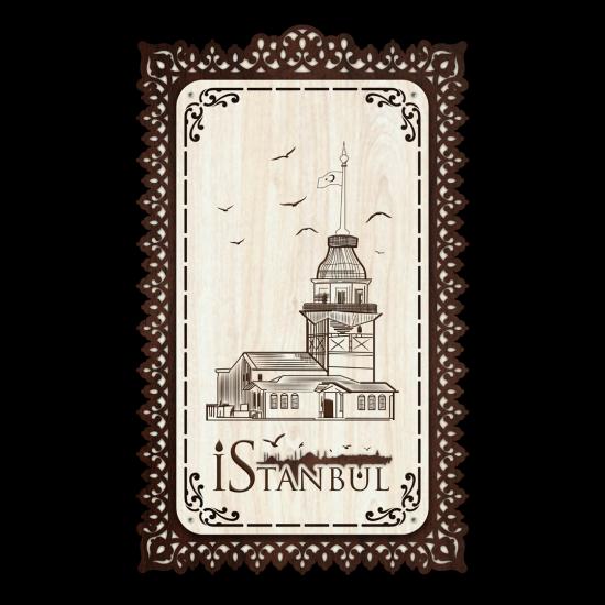 Dekoratif Ahsap Tablo - Kız Kulesi (Orta Boy)