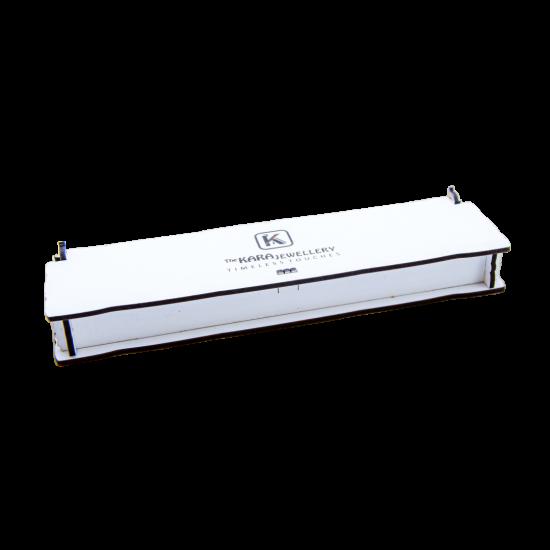 Ahşap Beyaz Ürün Kutusu (Tespih, Kalem, Bileklik, Promosyon)